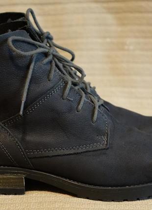 Классные мягкие высокие фирменные кожаные ботинки цвета маренго marco tozzi германия 39 р.