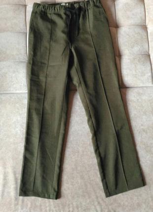Женские брюки andrea pompilio цвета хаки, пояс на затяжке, высокая талия, р.l