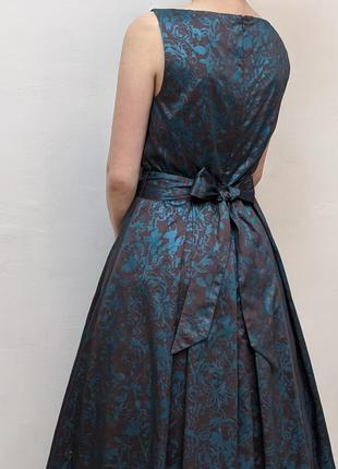 Шикарное цветочное миди платье laura ashley в винтажное стиле сукня в ретро стиле