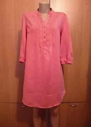 Льняное платье туника, лен, из льна пог 52 см