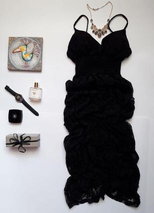 Шикарне круживне вечірнє плаття she cool