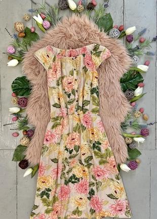 Актуальное летнее натуральное вискозное платье рубашка №553