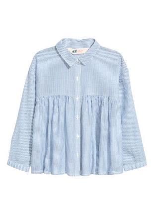 9-10 лет легкая блузка рубашка h&m