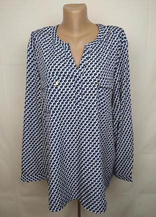Блуза легкая стильная большого размера uk 26