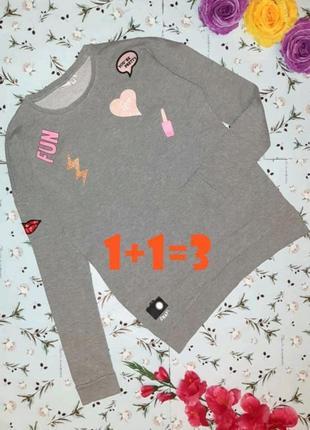 🎁1+1=3 крутой трендовый серый свитер с нашивками name it, размер 42 - 44