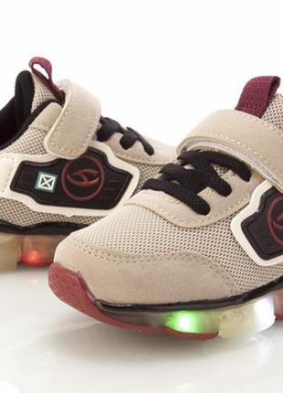 Детские кроссовки кеды легкие светящиеся для девочки или мальчика