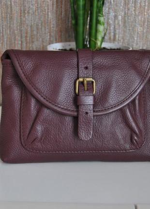 Кожаная косметичка мини клатч сумка gap / шкіряна косметичка