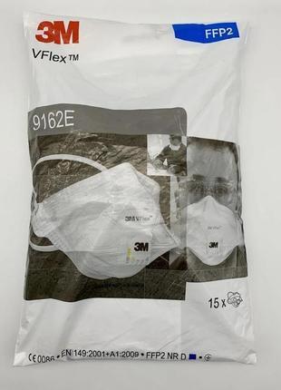 Респиратор маска 3м 9162 ffp2 с клапаном выдоха5 фото