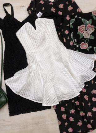 Идеальное платье бюстье юбка волан солнце корсет