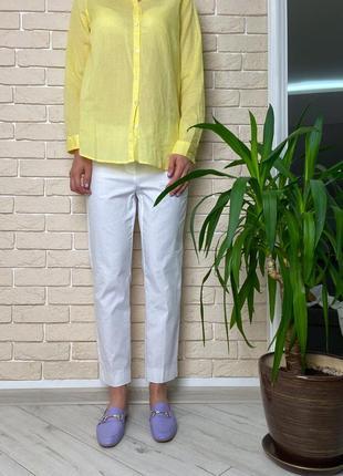 Белые брюки легкие катон