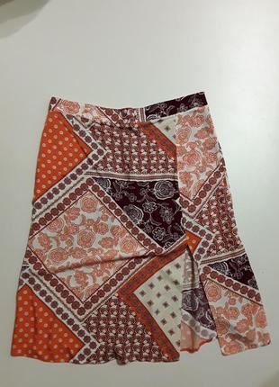Фирменная легкая натуральная юбка