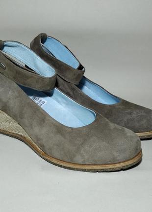 Wolky новые кожа + замш туфли на платформе, размер 37-38