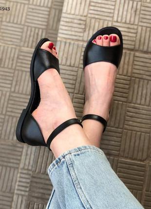 Стильные женские босоножки, натуральная кожа, кожаные босоножки на низком каблуке