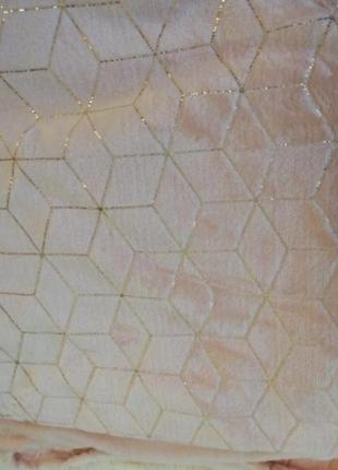 Плед микрофибра велюр/золото,  размер евро 220*240 пр-во турция в наличии расцветки
