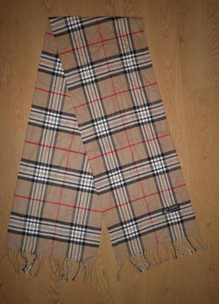 Теплый мягкий легкий шарф italian design кашемир вискоза 170х32см клетка качество италия