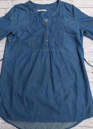 Джинсовая туника джинс летняя лёгкая натуралтная котоновая