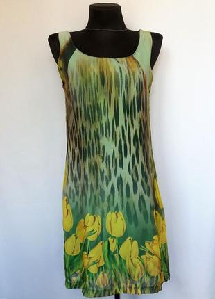 Garzia italia. стильное платье, тюльпаны. турция. новое, р-р 44