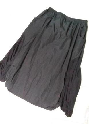 Оригинальная летняя юбка с трикотажными вставками большого 20-22 размера