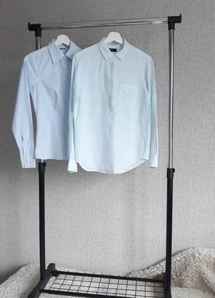 Рубашка. gap. голубая. лён.