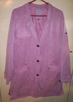 """Натуральный,стильный,розовый, тренч-плащ,под джинс-""""варёнку"""", с карманами,cecil,германия"""