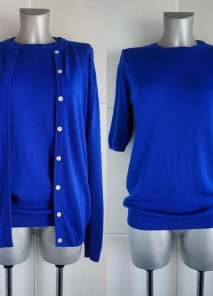 Шерстяной комплект двойка кардиган+футболка peter hanh