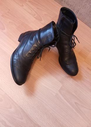 Германия, люкс! шикарные, красивые, кожанные ботинки, ботильоны, полусапожки, утеплённые
