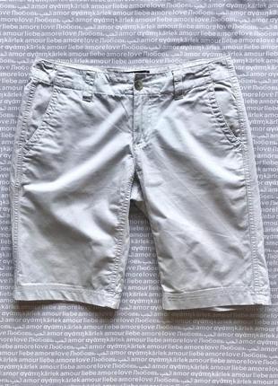 Бермуды  шорты длинные бриджи с карманами серые натуральные gap купить цена