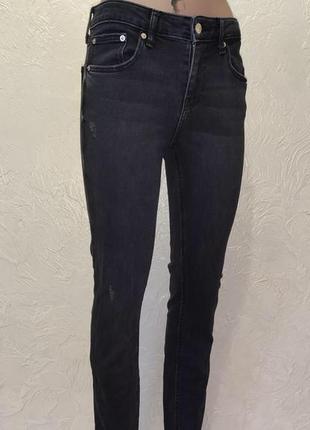 Чёрные джинсы со шнуровкой по низу zara