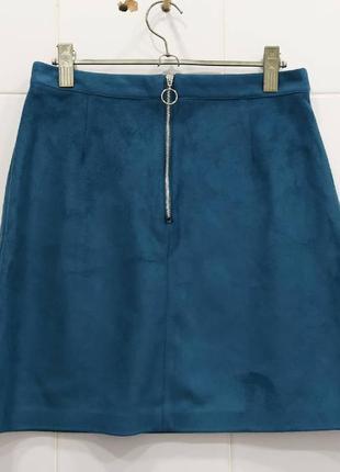 Изумительная юбка трапеция под замшу с замочком