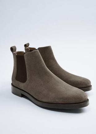 Кожаные ботинки от zara оригинал, новые.  тренд 2020. кеды, кроссовки