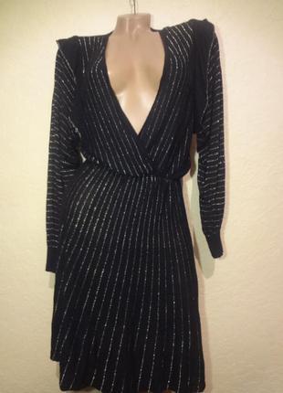 Красивое платье c глубоким декольте zara размер м