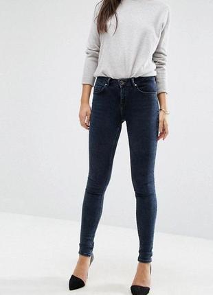 Esprit джинсы темные оригинал брендовые узкие зауженные стильные оригинал