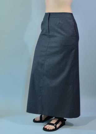 4338\90 длинная теплая шерстяная юбка next xl