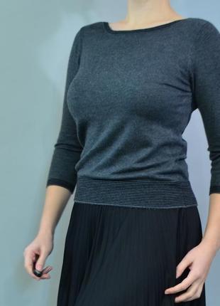 4332\30 тонкий свитер серого цвета debenhams m