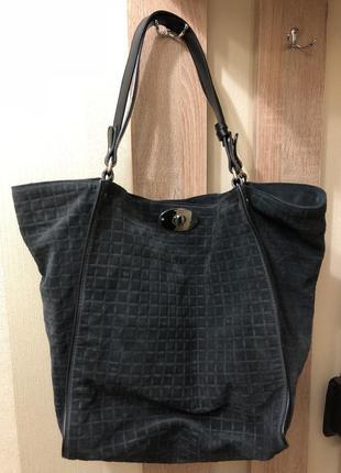 Замшевшая итальянская сумка