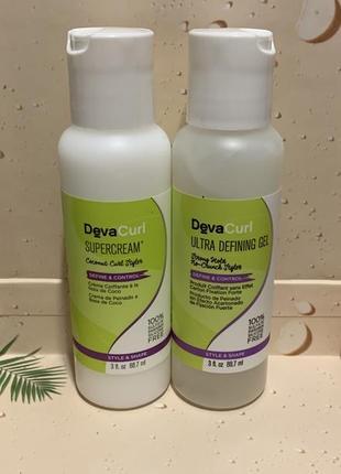 Набор devacurl supercream и ultra defining gel