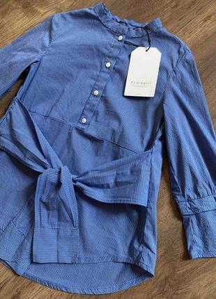 Стильная блуза/рубашка zara с эффектом на запах
