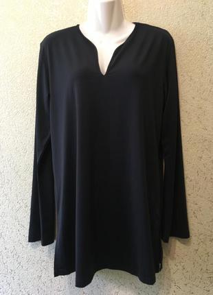 Лаконичная удлинённая женская комфортная кофта/кофточка размер l