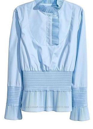 Рубашка с плиссированными деталями от h&m