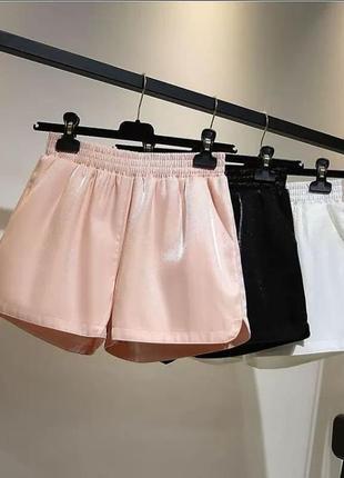 Стильные женские шорты. пудра, размер m