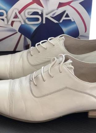Мужские кожаные туфли braska /свадебные туфли
