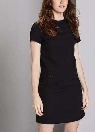 Платье чёрное прямое классическое офисное деловое на молнии next