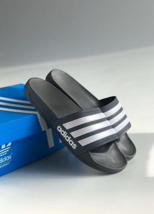 Шлёпки adidas gray&blue