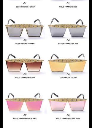 Крутые солнцезащитные очки с камнями8 фото