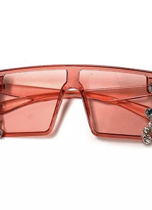 Стильные солнцезащитные очки с камнями8 фото