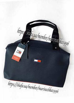 ⭐️ новая стильная классная качественная сумка tommy кожа pu / кроссбоди / шопер