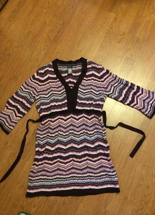 Брендовое платье- туника lerros  в стиле миссони размер s-m состояние новой вещи