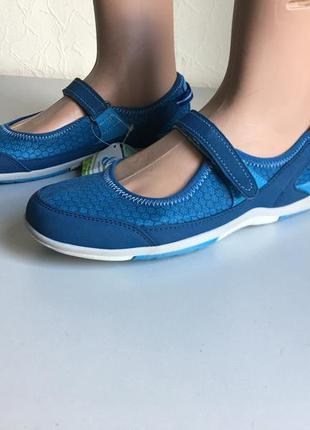 Летняя скидка! акция! спортивные синие сандалии, мокасины, слипоны lands end
