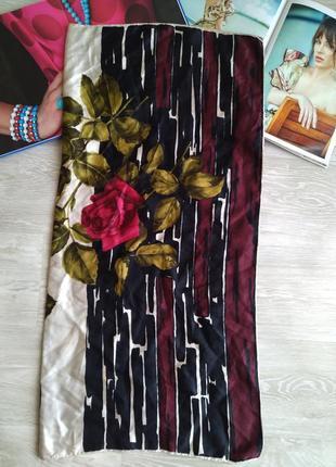 Шелковый платок с розой