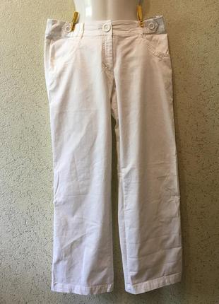 Белоснежные штаны/бриджи женские белые р 44